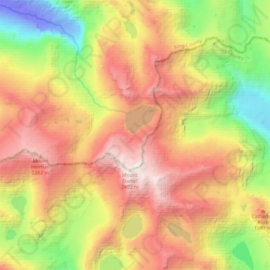 Lynch Glacier topographic map, relief map, elevations map